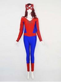 Female Version Low Neck Spiderman Costume