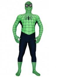 Green & Navy Spiderman Spandex Superhero Costume