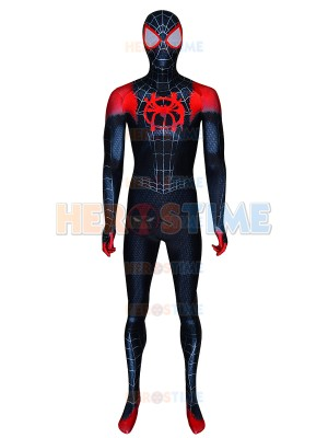 2019 Spiderman Miles Morales ISV Costume Into Spider-Verse Spider-man Cosplay Suit