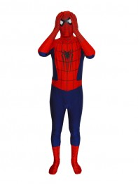 Navy Blue Classic Spider-man Superhero Costume