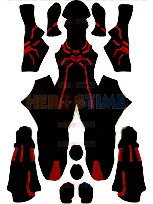 Red Big Time Spider-man Suit Spider-Man PS4 Games Cosplay Costume