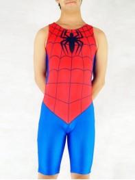 Red & Blue Spiderman Spandex Superhero Catsuit