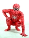 Red & White Stripes Spiderman Spandex Superhero Costume