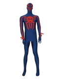 Spider-man 2099 Navy Blue Spandex Custom Superhero Costume