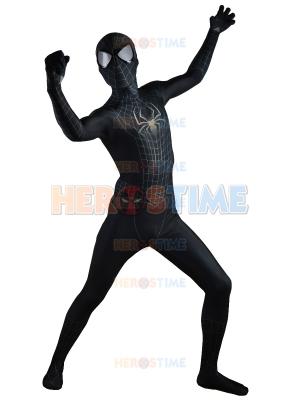 The Amazing SpiderMan 2 Black Costume Black Spider-Man Morph Fullbody Suit