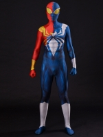 Half Symbiote Iron-Spider Costume 3D Designed Spider-man Cosplay Suit