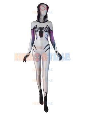 Venom Gwen Costume White Anti Gwenom Girl Cosplay Suit