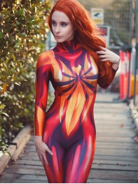 MJ Iron Spider Costume Mary Jane Spider Girl Cosplay Suit