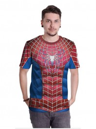 The Amazing Spider-man Superhero Comperssion Exercise GYM Shirt