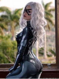 2017 Newest Black Cat Symbiote Female Cosplay Costume
