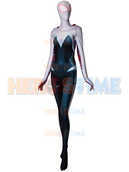 Spider-Man Costume Gwen Stacy Ghost-Spider Cosplay Costume