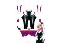 Spider-Man Costume Gwen Stacy Ghost-Spider Cosplay Costume