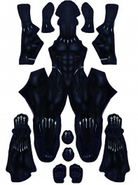 Black Panther 2018 Film Version Dyesub Cosplay Costume