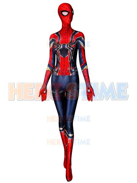 Female Spider-man Suit Iron Spider MCU V3 Superhero Costume