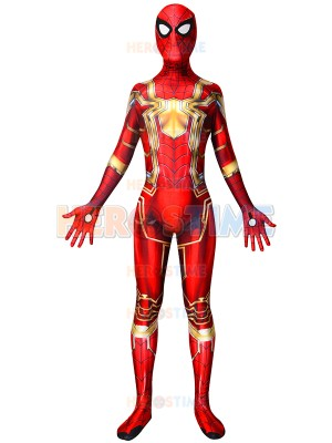Spider-Man Costume MCU Iron Spider Red & Gold Version Costume