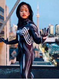 Venom 2018 She-Venom Anne Weying Printed Costume