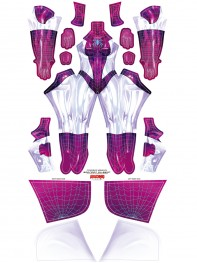 Spider Gwen Stacy Shiny Version Cosplay Superhero Costume No Mask