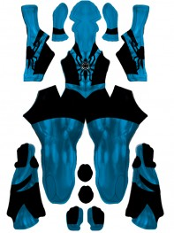 Spiderman Costume Blue Lantern Spiderman Cosplay Costume