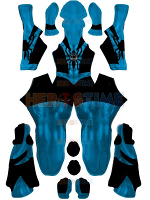 Spiderman Costume Blue Lantern Spiderman Cosplay Costume