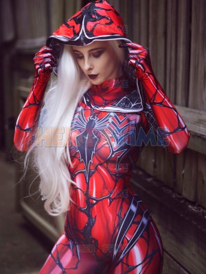 Carnage Gwen Spider Female Dye-sub Printing Cosplay Costume