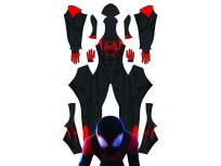 2018 Spider-Man: Into the Spider-Verse Miles Morales ISV Printing Superhero Costume