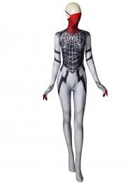 Silk Costume Symbiote Silk Printed Costume With Half Mask
