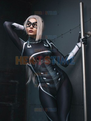 Black Cat Suit Spider-man: The Heist Black Cat Cosplay Costume
