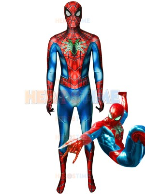 Spider Armor MK IV Suit Spider-Man PS4 Games Costume