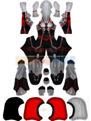 2019 Newest Spider-man Costume Halloween Cosplay Costume With Hood