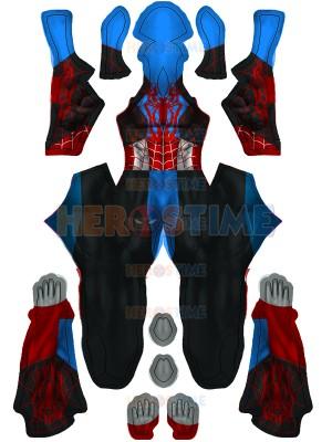 Spider-Man Cosplay Costume Captain America Costume Halloween Hybrid Suit