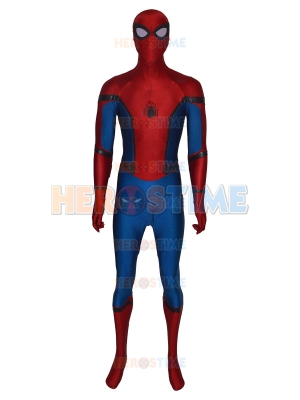 Homecoming Spider-man Costume On Colored Fabric Leather Spider