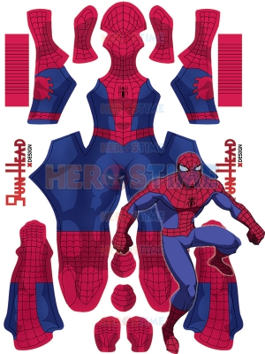 1994 Spider-Man Cosplay Costume NIGHT Version Kids and Adults Halloween Suit