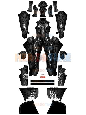 Black Carnage Suit Venom Cosplay Costume With Male Muscle