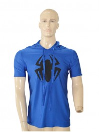 Scarlet Spider Spider-man Royal Blue Hooded T-shirt