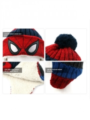 Spider-man Superhero Marvel Cosplay Winter Lamb Plush Hat