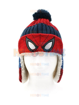 Spider-man Superhero Marvel Cosplay Winter Lamb Plush Hat