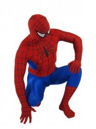 Standard Red & Blue Spiderman Spandex Superhero Costume