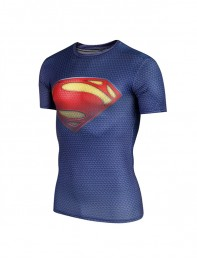 3D Superman Muscle Running T-Shirt Pro Top Quick Dry Fit Sportswear
