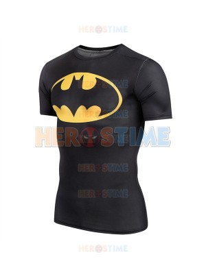 Black Batman Superhero Dry Tee Sportswear