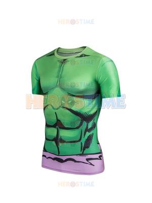 The Hulk 3D Mucle Pattern Superhero Dry Quick Sportswear