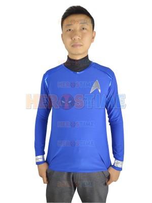 Star Trek Blue Spandex Two-piece Superhero Coat