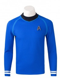 Star Trek Blue Superhero Long Shirt