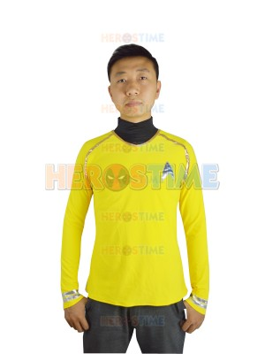 Star Trek Yellow Spandex Two-piece Superhero Coat