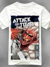 Attack on Titan Cover Art Cotton T-shirt