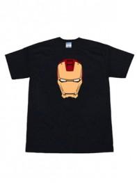 Black Iron Man Armored Superhero T-shirt