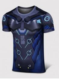Overwatch Genji Black Spandex/Lycra Cosplay T-shirt