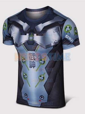 Overwatch Genji Spandex/Lycra Cosplay T-shirt