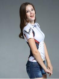 Overwatch Mercy Angela Ziegler Spandex/Lycra Cosplay T-shirt