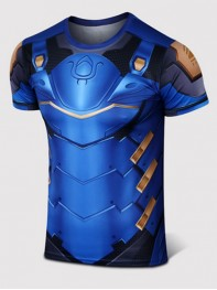 Overwatch Pharah Spandex/Lycra Cosplay T-shirt
