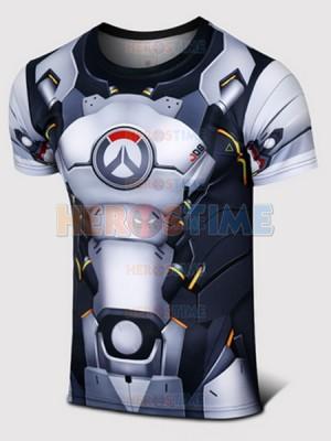 Overwatch Reinhardt Wilhelm Spandex/Lycra Cosplay T-shirt